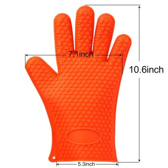 Harga niceEshop 1Pair Silicone Gloves Heat Resistant Gloves Oven Glove Cooking Glove,Orange