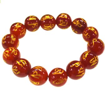 Harga Feng Shui Charms Monta Beads Bracelet XL (Red)