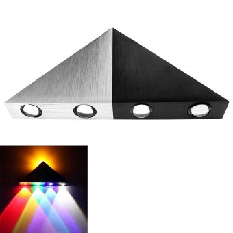 Harga Wall Lamp Disco Colorful Light 5W Romantic Modern Fashion Lighting Triangle LED Home Light Indoor Outdoor Party Lighting - intl