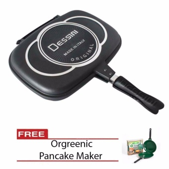 Harga Dessini Double Grill Pan 32cm with Free Orgreenic