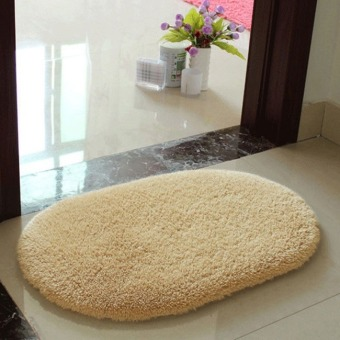 Harga Anti-Skid Fluffy Area Rug Bedroom Home Bathroom Floor Shower Door Mat 5Color