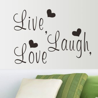Harga Live Laugh Love Love Heart Diy Removable Wall Decal 37cm*46cm