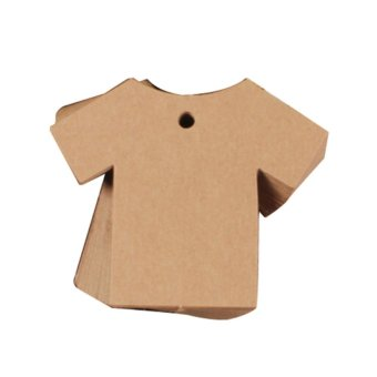 Harga Label Price Gift Cards Clothes Kraft Paper Hang Leather - intl