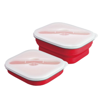 Harga Space Saving Collapsible Lunch Box (Red)