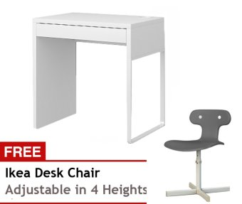 Ikea Micke Desk Short with Free Molte Chair (Grey) Price Philippines
