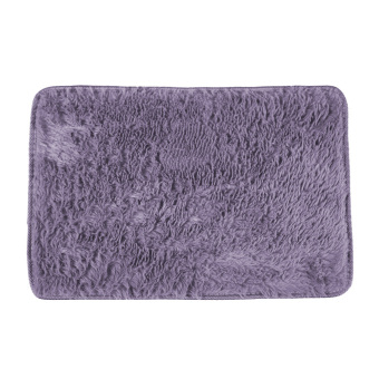 Harga Fluffy Rugs Anti-Skid Shaggy Area Rug Dining Carpet Floor Mat gray purple