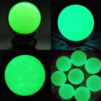 Harga Sanwood Charming Luminous Glow In The Dark Stone Sphere Ball with Base Home Decor Gifts - intl