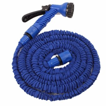 Harga Expandable 50ft Flexible Garden Hose (Blue)