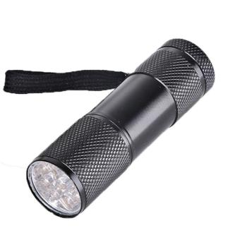 Harga 9 led Flashlight Portable Flash Torch Light Lamp Camping, Security, Tactical and General Use Black - intl