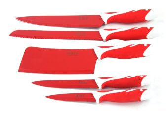 Bass High Quality Stainless Steel Knife 5-Piece Set (Red) Price Philippines