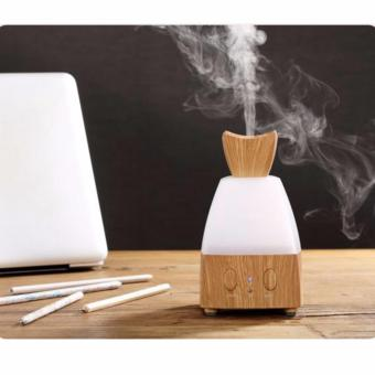 Harga Electric Fragrance Diffuser Wood Essential Oil Diffuser Warm LED Lights Changing 80ML Mist Diffuser for Home,Office (Light wood) - intl