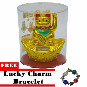Lucky Charm Good Luck Cat Solar Decorative Gift w/ Free Lucky Charm Bracelet Price Philippines