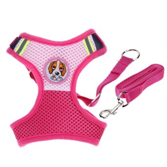 Harga Pet Dog Collars Puppy Leash Vest Mesh Breathe Adjustable Harnes(Pink S) - intl
