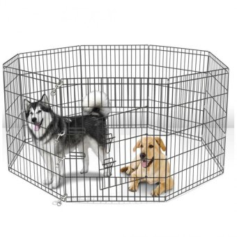 Playpen Fence 8 panel Dog Cat 36inch (Black) Price Philippines