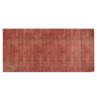 Rustic Brick Effect Rock Stone Textured Wall Sticker Paper Red Price Philippines