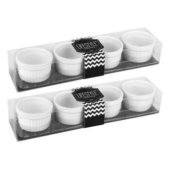 Lifestyle Ramekin Set of 8 (White) Price Philippines