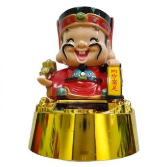 Harga Be Lucky Charms Feng Shui Feng Shui God Of Wealth (Tsai Shen Yeh) Solar Powered