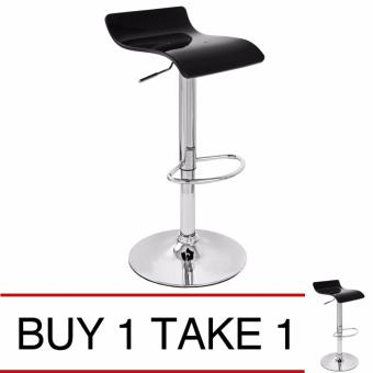 Harga Sumo BC-38BLK Bar Stool Elegant Acrylic Top Barstool Chair Furniture (Black) Buy 1 Take 1