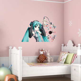 Anime Zone Vocaloid Anime Miku Hatsune Fashionable DIY Wall Clock Sticker Price Philippines