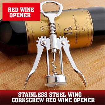 2016 Best Quality Stainless Steel Wing Corkscrew Red Wine Opener (silver) Price Philippines