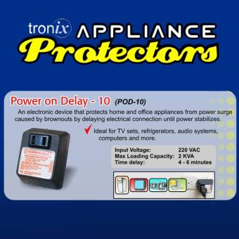 Tronix POD10 / Power on Delay / Appliance Protector Price Philippines