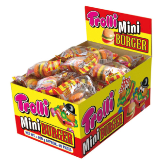 Harga Trolli Mini Burger Gummi Candy 9g 60-piece Set