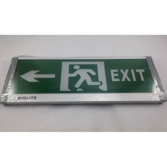 Harga Big Lite Exit Signage Z01GTE3 Modern LED Lighting