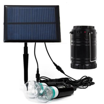 Solar Panel DIY Lighting 2xLED Light Bulb Home Solar System Kit for Home Garden Decoration & Lighting with Solar Energy camping Lanter with USB Charger Emergency Portable Lighting Price Philippines