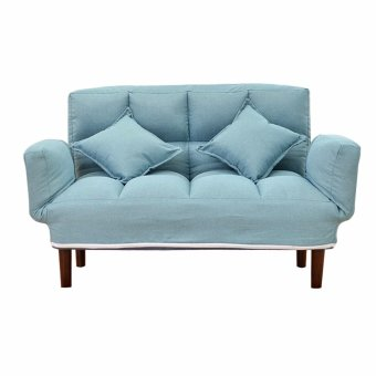 Phoenix LoveSeat Sofa Blue With 2 Pillows Price Philippines