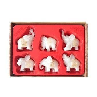 Harga Feng Shui Set of 6 White Elephant Figurines