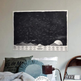 Star Map Glow in the Darkness Night Sky Constellations Zodiac Chart Poster Gift Price Philippines