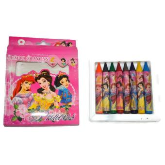 Princess Non-toxic 8 Colors Jumbo Crayons School Supplies for Girls Price Philippines