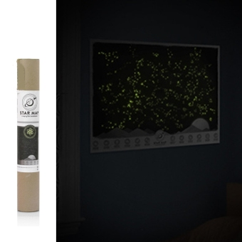 Universe Star Map Glow In The Darkness Light Night Sky Constellations Zodiac Picture Wall Stickers Price Philippines