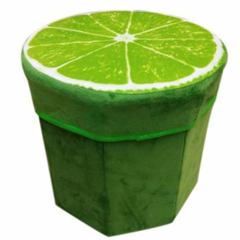 Harga 3D Fruit Design Storage Chair (Lime)