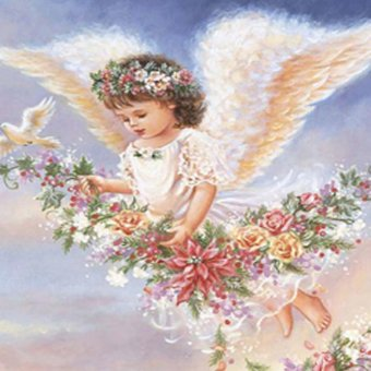 Harga OEM DIY Diamond Painting 5d Pasted Cross Stitch Little Angel Full Diamond Embroidery Kids Room Home Decoration