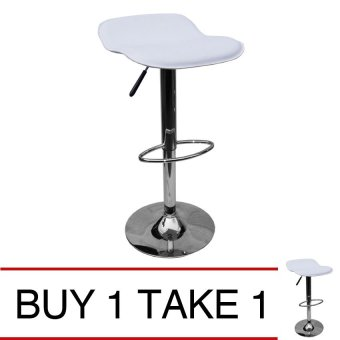 Harga Sumo BC-47WHT Adjustable Bar Stool Chair Furniture (White) Buy 1 Take 1