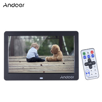 "Andoer 10"" Wide Screen HD LED Digital Picture Frame Digital Album High Resolution 1280*600 Electronic Photo Frame with Remote Control Multiple Functions Including LED Clock Calendar MP3 MP4 Movie Player Support Multiple Languages - intl Price Philippines"