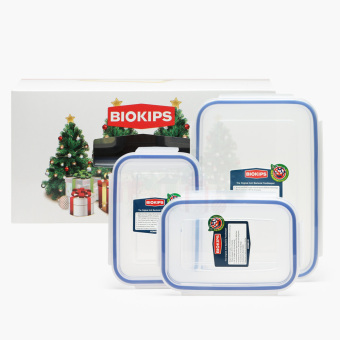 Harga Biokips Food Container 450mL and 1.1L Set of 3