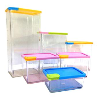 Harga 6pcs Stackable Space Saving Containers