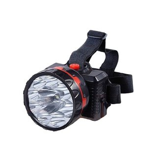 Harga Bright 15 LED Rechargeable Waterproof Head Lamp high lumen head flashlight