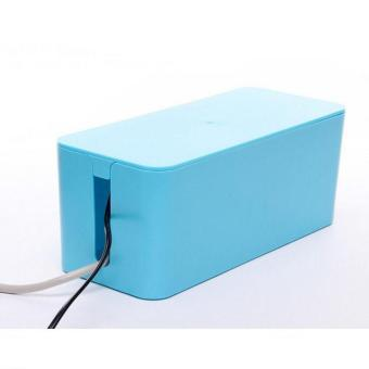 Plastic Wire Storage Box Cable Manager Organizer Box Power Line Storage Cases Junction Box Household Necessities ( L ) 40.5X15.5X13.5CM - intl Price Philippines