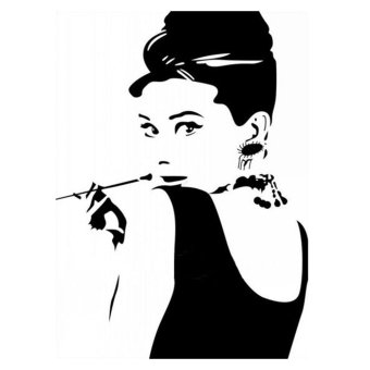 Harga Audrey Hepburn DIY Removable Vinyl Wall Stickers Decal Art Home Decor Mural