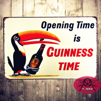 Tin Sign Opening Time Is Guinness Time Rustic Wall Decor20*30Cm - intl Price Philippines