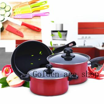 BIG SIZE 10 IN 1 As seen on TV Big promotion stainless steel pan and knife set Price Philippines