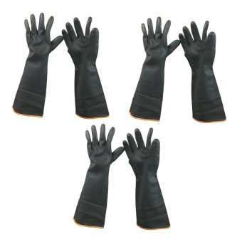 "Meisons industrial gloves acid and chemical resistant 18"" (3 pairs) Price Philippines"