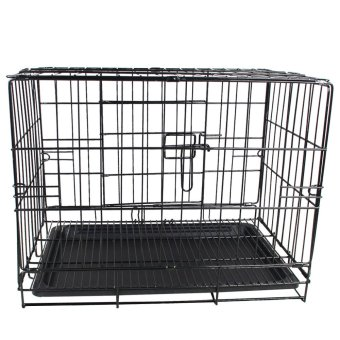 "GETEK 18"" Pen Folding Dog Puppy Pet Crate Training Cage Kennel w/Tray (Black) Price Philippines"