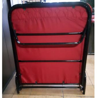 Folding Bed With Mattress (Red) Price Philippines