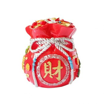 Harga Feng Shui WPC-S Wealth Pot Coin Bank Small (Red)