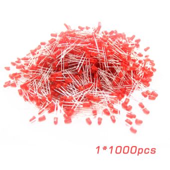 OH Universal 1000 Pcs/Set 5mm Diffused Red Lens Round LED Light Emitting Diodes red Price Philippines