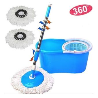 Easy Life Easy Magic Mop 360 Degree Rotating Fast Spin Dry 2 Mop Heads (Blue) Price Philippines